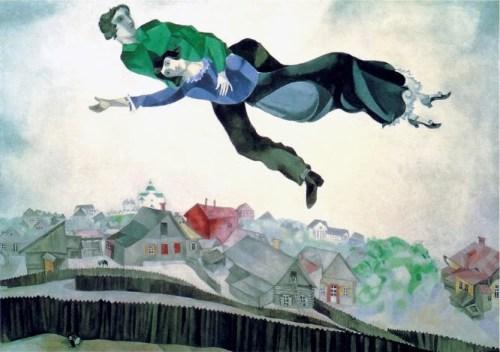 Marc Chagall _ Sopra la citta 1918